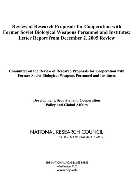 Review of Research Proposals for Cooperation with Former