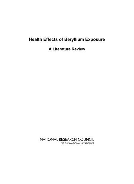 3 Sensitization And Chronic Beryllium Disease Health