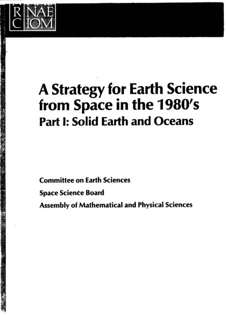 A Strategy for Earth Science from Space in the 1980s--Part