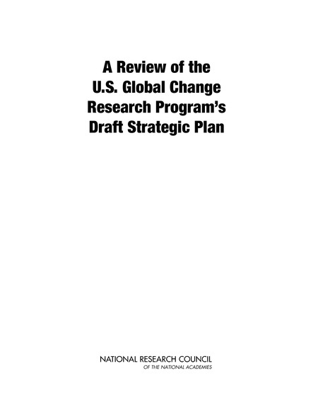 A Review of the U.S. Global Change Research Program's