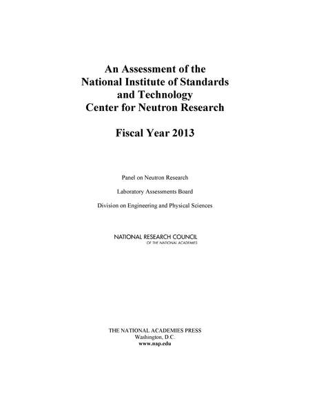 An Assessment Of The National Institute Of Standards And