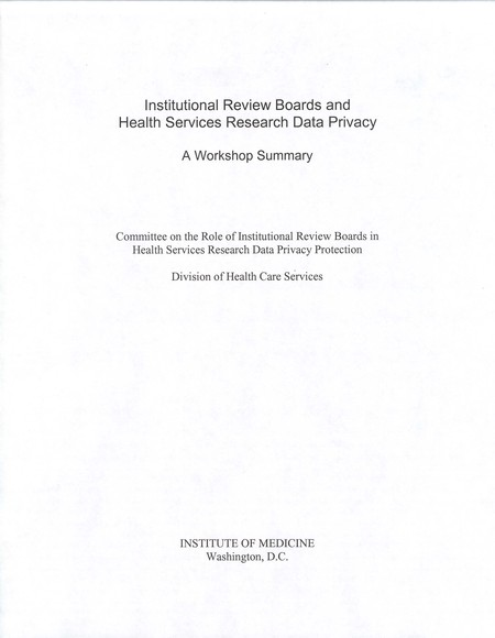 Institutional Review Boards And Health Services Research