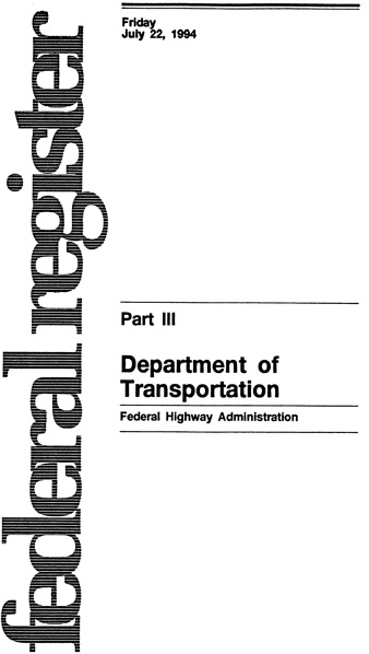 Appendix: 23 CFR, State Planning and Research Program