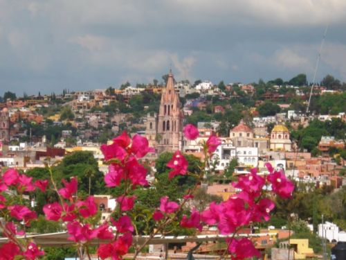 San Miguel de Allende rooftop shot from our home