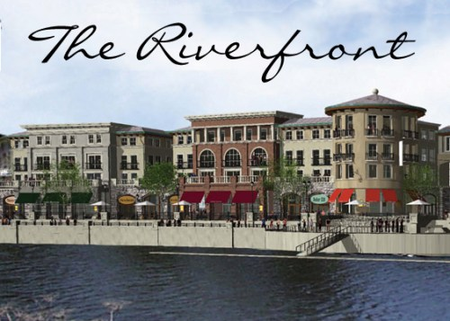 Riverfront rendering in downtown Napa