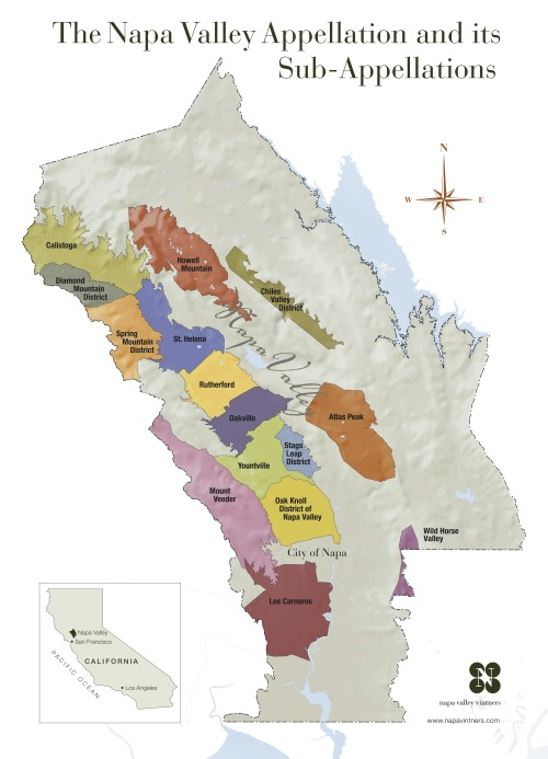 Napa Valley Appellation Map