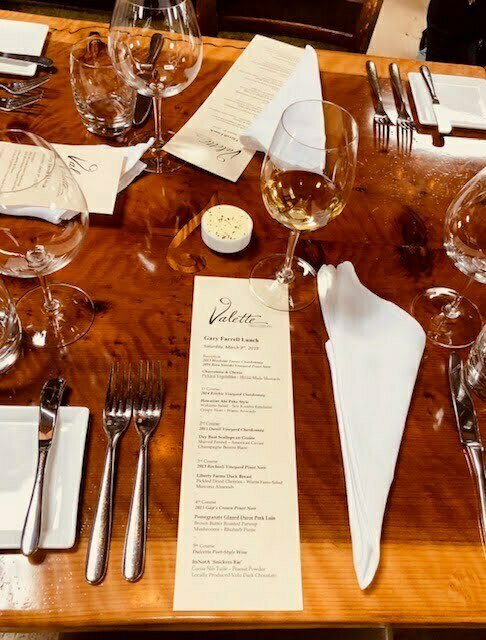 A Fabulous Lunch At Valette Restaurant with Gary Farrell Wines 3