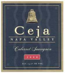 Wine Label   <br/>for Ceja Vineyards