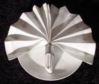 Napkin ring folding