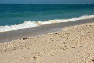Waves Crashing On Bonita Beach Florida Angled