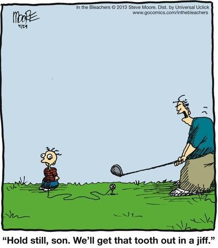 Golf Joke - Cheaper than a dentist
