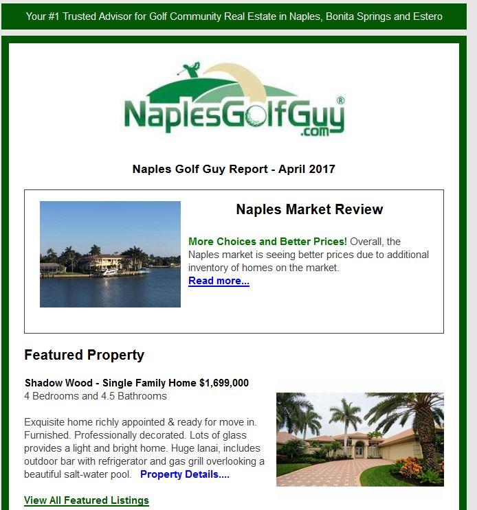 Naples Golf Guy Report