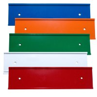 "Color Office Nameplate Holders for Doors or Walls 8"" or 10""x2"""