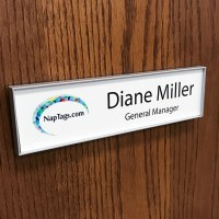 "Changeable Name Plate Frames for Walls or Doors 8"" x 2"" or ..."