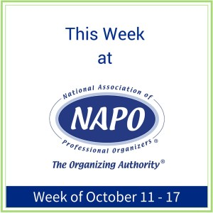 This Week at NAPO week of Oct 10 - 17