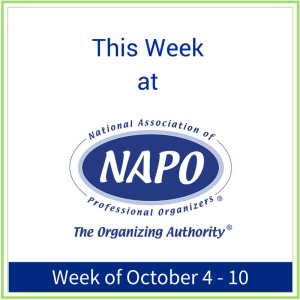 This week at NAPO October 4 - 10