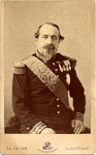 visiting card portrait of napoleon iii