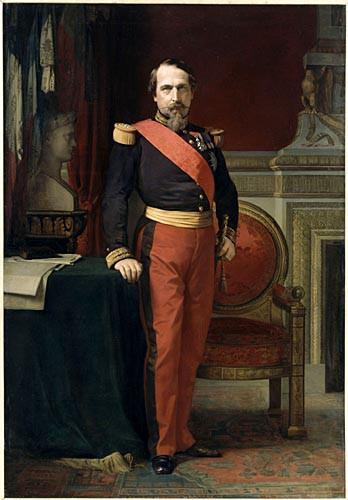 standing portrait of napoleon iii in