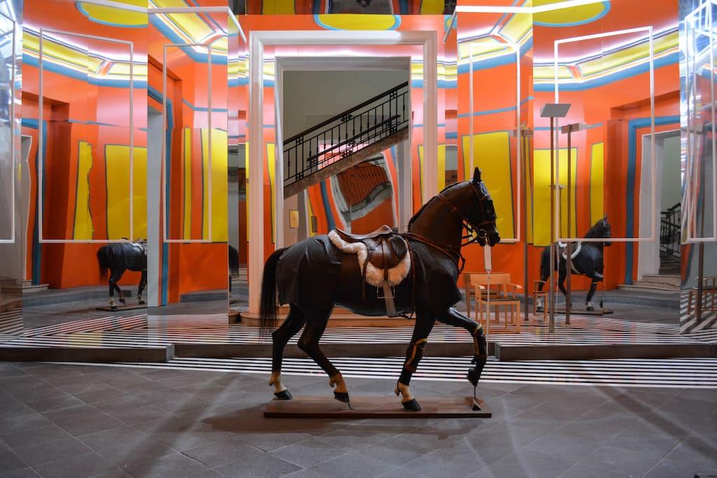 Cavalleria psichedelica al Museo Madre
