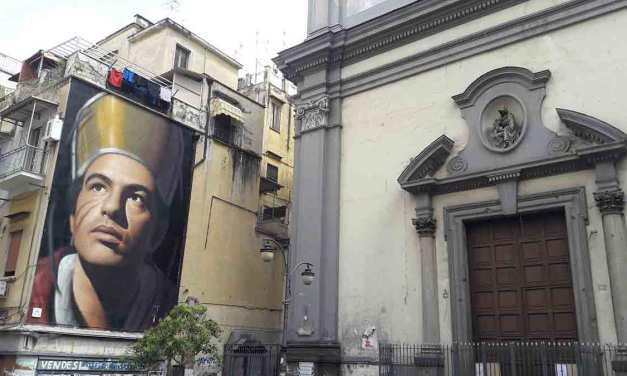 Quartiere Forcella nel centro storico della città di Napoli