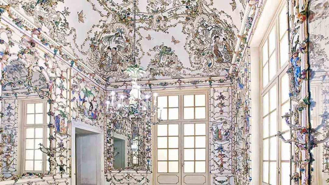 Capodimonte Salottino di Porcellana