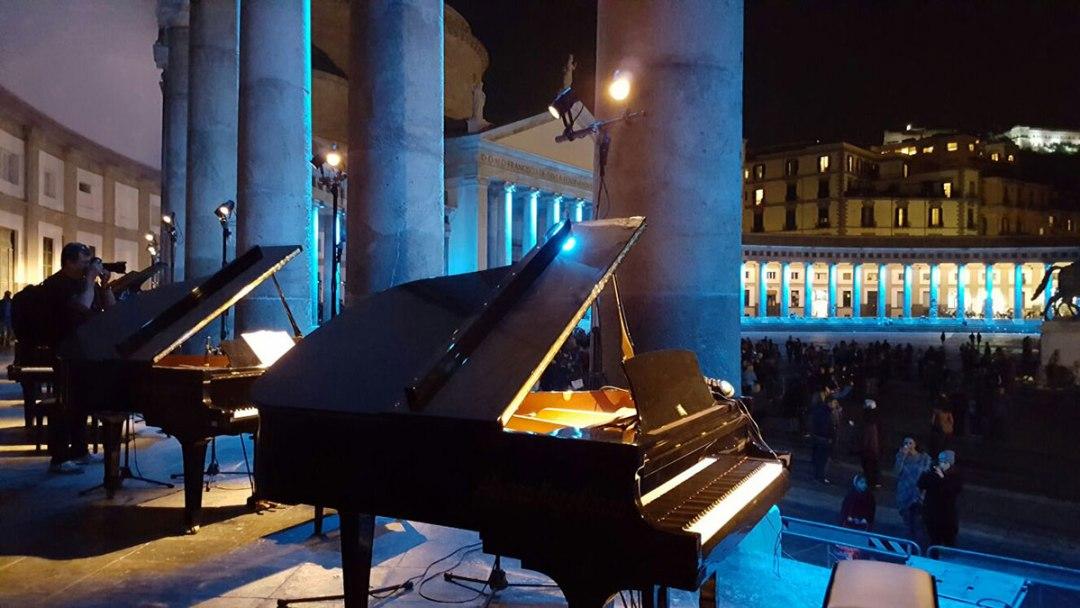 Piano City Napoli in piazza Plebiscito
