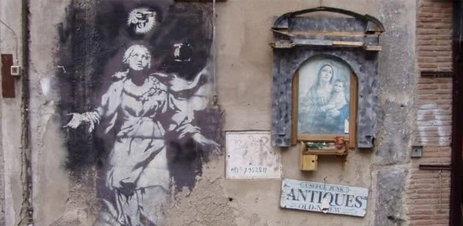 Madonna con Pistola, Banksy Napoli