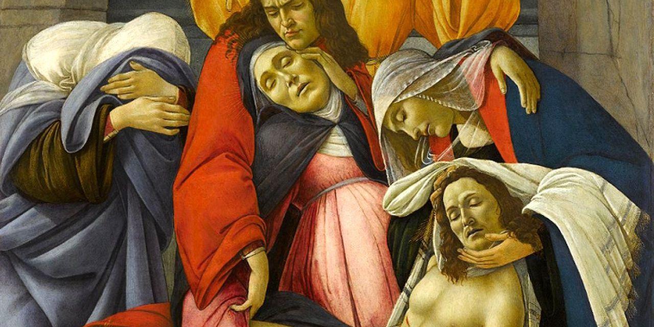 Compianto sul Cristo morto di Botticelli in mostra al Palazzo Zevallos Napoli