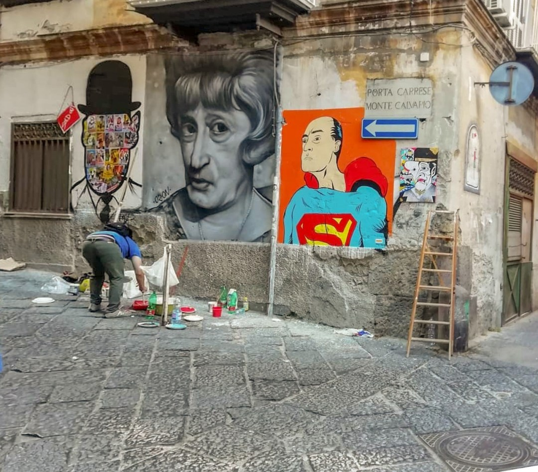 quartieri spagnoli - Totò street art