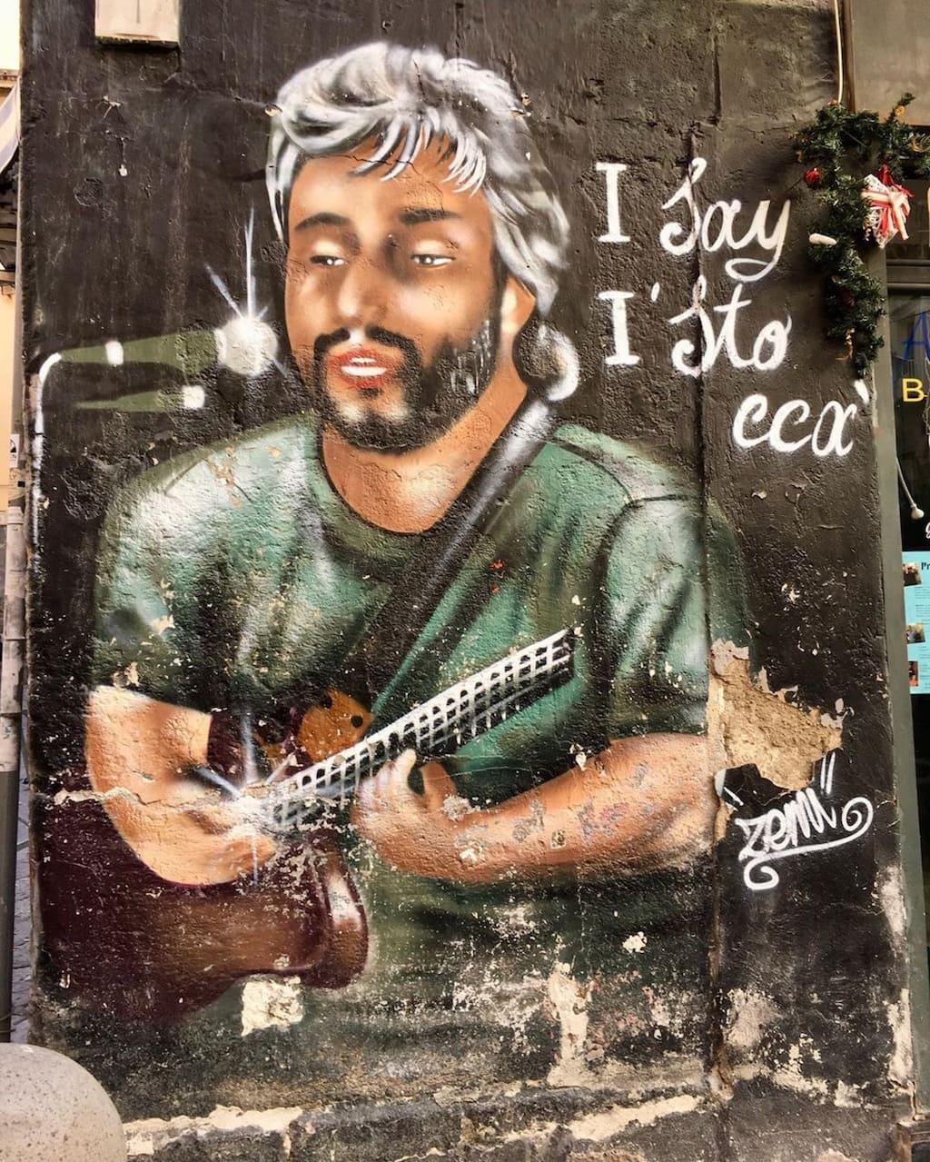 Pino Daniele street art Napoli