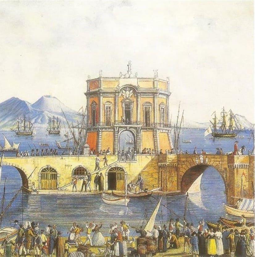 Napoli Palazzo dell'Immacolatella - Autore ignoto