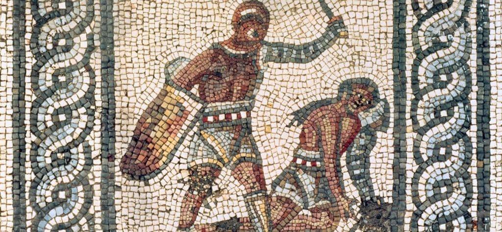 Mostra i Gladiatori, Mosaico Augusta Aurica