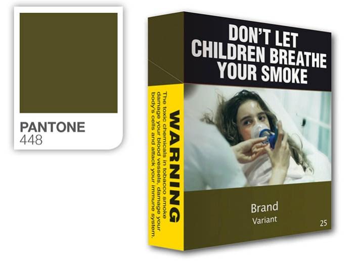 Marrone, Pantone 448 C: il colore più brutto del mondo per smettere di fumare