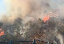 Vasto incendio in via Caravaggio: tra Posillipo e Fuorigrotta