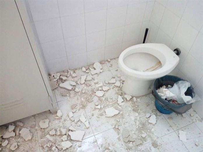 Ospedale Pellegrini di Napoli: crolla calcinacci dal soffitto
