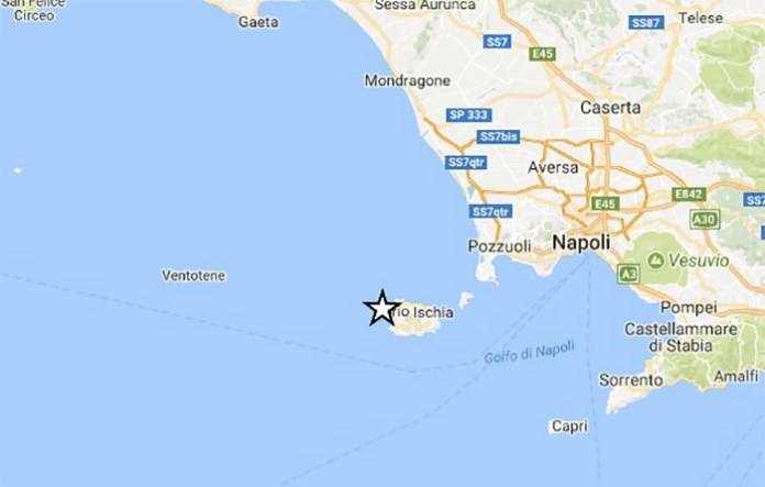 Terremoto a Ischia: scossa di media intensità di magnitudo 3.6