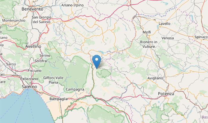 Terremoto oggi: leggera scossa magnitudo 2.1 a Santomenna (Salerno, Campania)