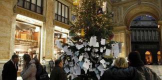 Galleria Umbero I, Natale 2017 senza albero