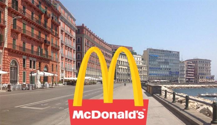 McDonald's sul lungomare di Napoli: già è polemica