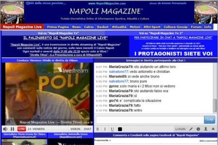 """NapoliMagazineLive: """"De Laurentiis e' una garanzia per il futuro del Napoli"""""""