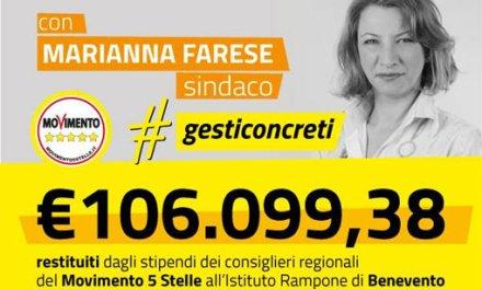 Alluvione Benevento: Il M5S dona 106.099,38 Euro all'istituto S. Rampone