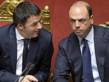 Matteo Renzi e Angelino Alfano