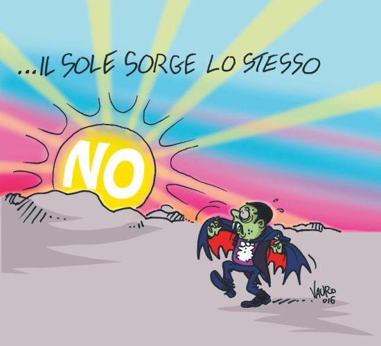 La Vignetta di Vauro. Fonte Twitter.com