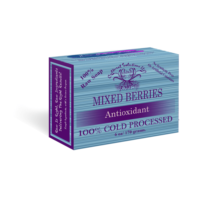 Mixed Berries Antioxidant Signature Raw Soap