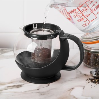 Glass Tea Pot Infuser with Stainless Steel Basket