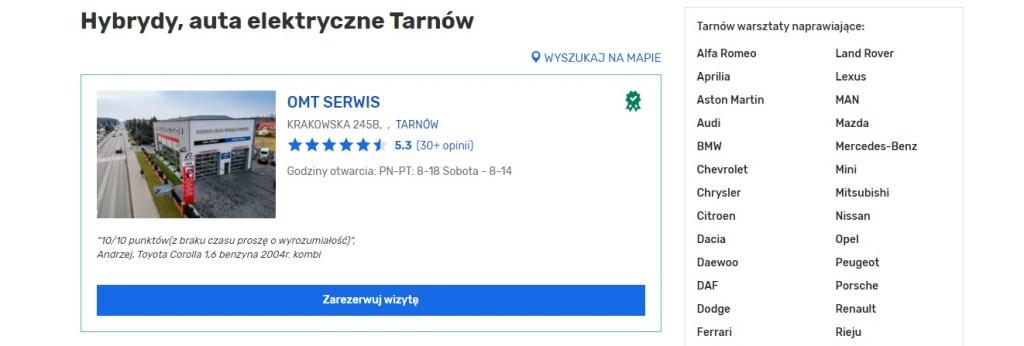 Tarnów - Naprawa Samochodów Hybrydowych