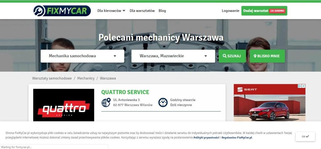 Fix My Car  Mechanik Samochodowy Warszawa