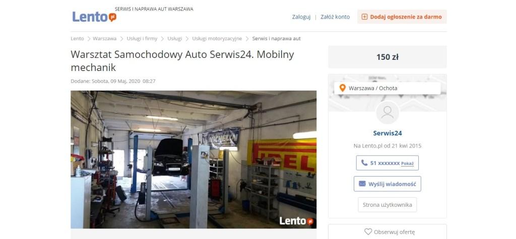 Lento.PL - Warsztat Samochodowy Auto Serwis