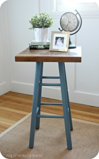 A Cutting Board + Kitchen Stool = A Table?