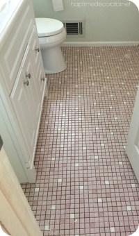 Paint Tile Bathroom Floor | Tile Design Ideas